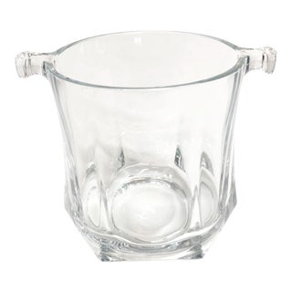 Mid Century Glass Ice Bucket