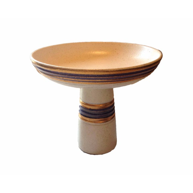 Image of Watussi California Pottery Pedestal Dish