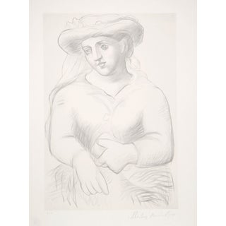 Pablo Picasso Lithograph - Femme Chapeau Et Missel