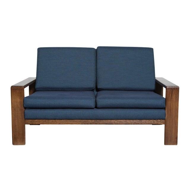 Wenge 70's Mod Love Seat - Image 1 of 8