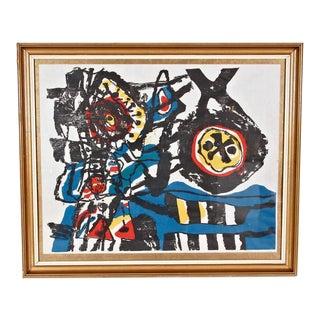 """J. Diedren """"Kinderen Tussen Het Blaw"""" Lithography, 1965"""