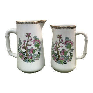 Vista Alegre Hand Painted Pitchers - A Pair