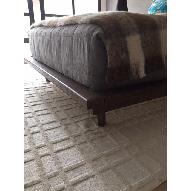 Modern Designer Upholstered Queen Bedframe - Image 3 of 5