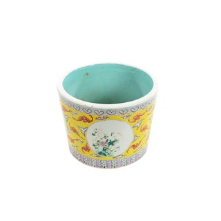 Antique Chinese Yellow Porcelain Planter