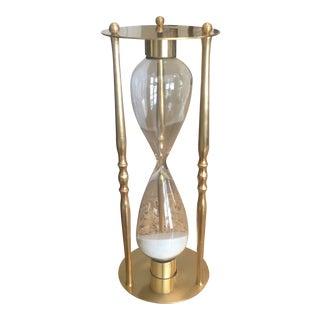 Vintage Mid-Century Brass Hourglass