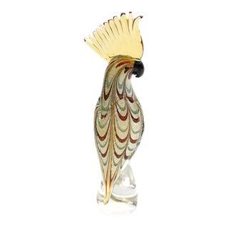Hollywood Regency Vintage Signed Murano Cockatoo