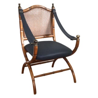 Drexel Faux Bamboo & Cane Chair