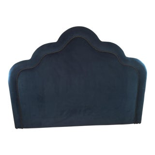 King Size Navy Velvet Headboard