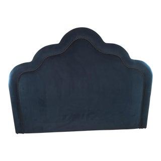 King Size Navy Velvet Headboard