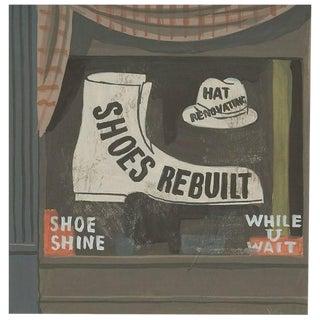 Witold Gordon Gouache, Shoes Rebuilt, Vanity Fair