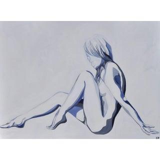 """Moon River"" Acrylic Figure Painting"