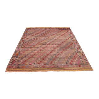 Vintage Turkish Kilim Rug - 6′1″ × 8′7″