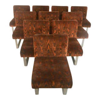 Kagan Style Mid-Century Dining Chairs - Set of 10