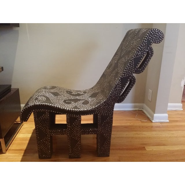 African Accent Chair - Image 4 of 6