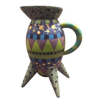 Celestial Resin Mosaic Pitcher