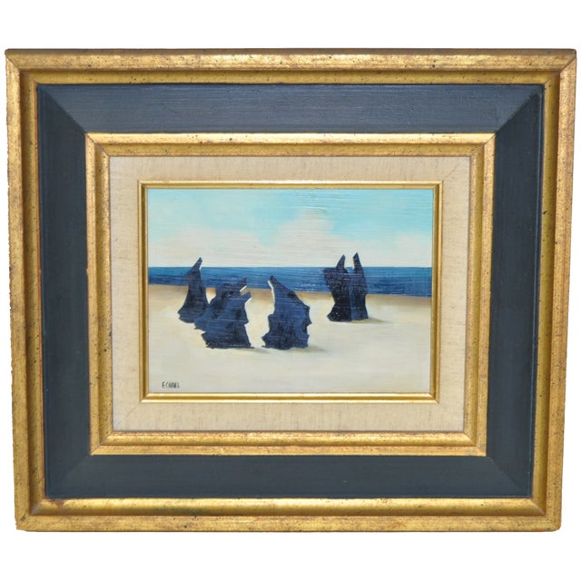 Image of Surrealist Painting by Estelle Chaves circa 1970