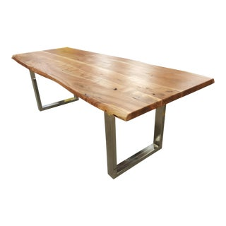 Handcrafted Acacia Wood Live Edge Dining or Office Table