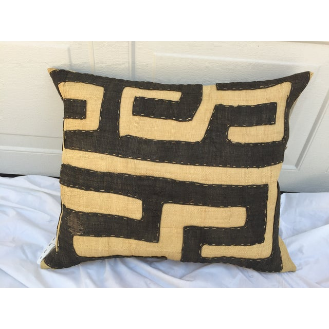 African Kuba Maze Pillow - Image 2 of 6