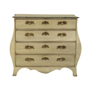 Dutch Painted Bombe Commode