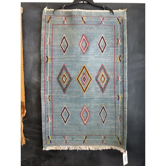 Vintage Moroccan Flat Weave Rug - 2′ × 3′3″ - Image 2 of 4