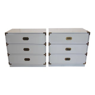 Bernhardt Campaign Lacquered Chests - A Pair