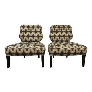 Vintage Mid-Century Slipper Chairs - A Pair