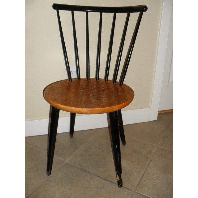 Danish Modern 1950's Teak Spindle Back Chair - Image 2 of 6