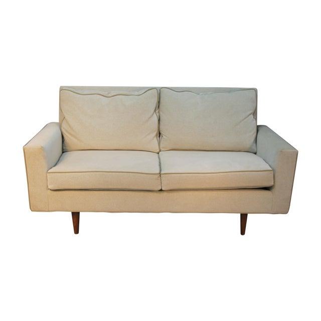 Mid Century Modern Velvet Loveseat With Leather Chairish