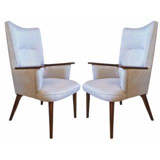Hansweger-Style Mid-Century Armchairs - A Pair