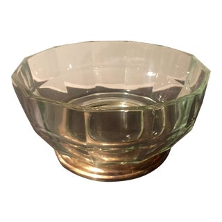 Silver Footed Crystal Bowl