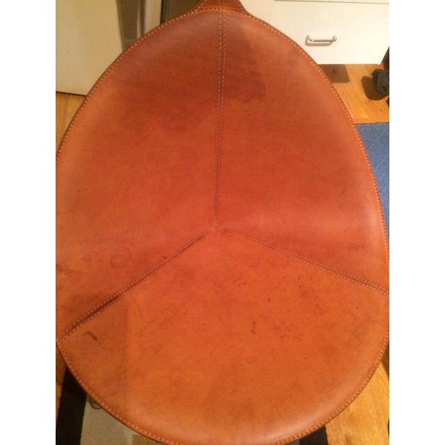 Contemporary Leather Fasem Chair - Image 6 of 8