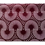 Image of Burgundy Pink African Wax Print Fabric - 2 Yards