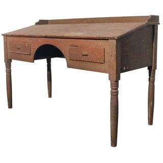 Antique Primitive Wooden Standing Desk