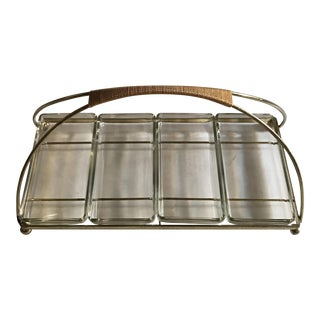Ernest Sohn Mid-Century Brass & Glass Serving Dish
