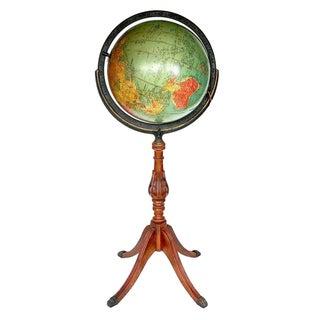"Vintage Globe - 40s Replogle Glass 12"" Illuminated"
