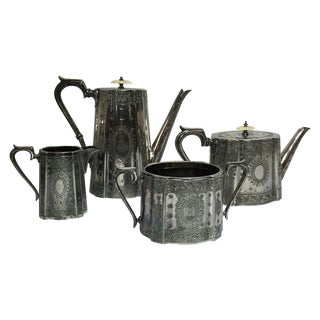 Victorian Silver Plated Tea Set