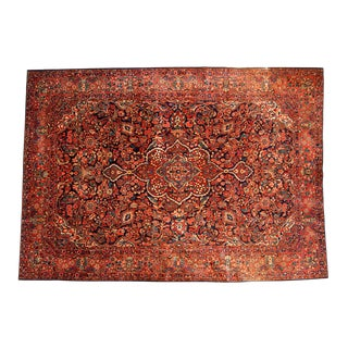 "Vintage Persian Sarouk Carpet - 8'7"" x 11'11"""