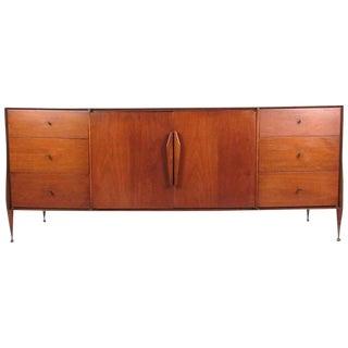 Mid-Century Modern American Walnut Nine-Drawer Dresser