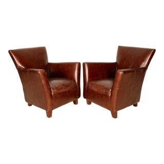 Mid-Century Leather Chairs - A Pair