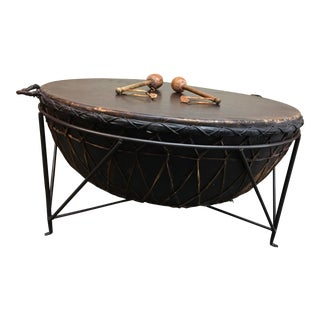 African Drum Cocktail Table
