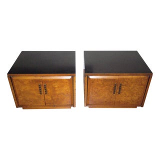 Drexel Heritage Burlwood Cabinets - A Pair