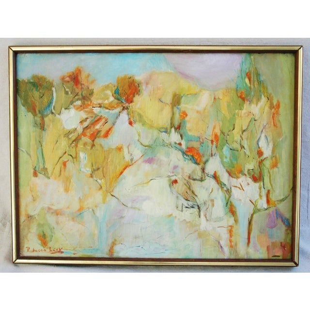 Signed Mid-Century Abstract Oil Painting - Image 2 of 5