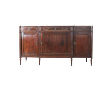 French 19th Century Louis XVI Mahogany Enfilade with Marble Top