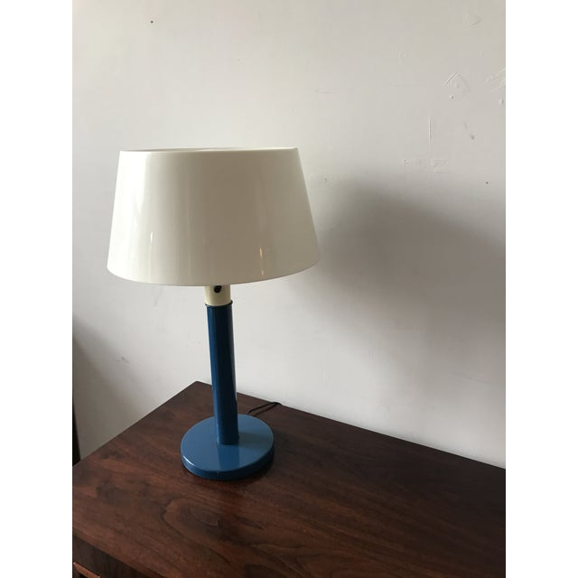 Gerald Thurston Mid-Century Cobalt Table Lamp - Image 3 of 7