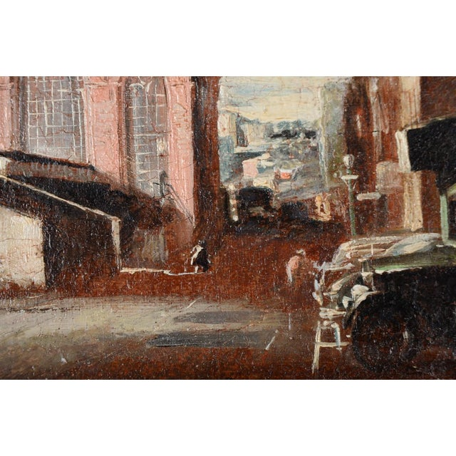 French Impressionist Street Scene Oil Painting - Image 6 of 10