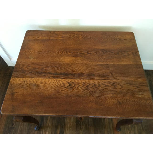 Antique Oak Cabriole Leg Farm Table - Image 4 of 8