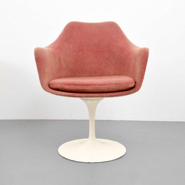 Eero Saarinen for Knoll Inc Tulip Arm Chairs, Set of 4 - Image 2 of 9