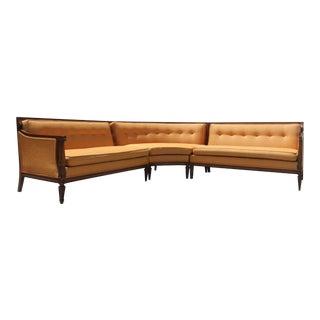 1962 Vivian Blume 3 Piece Curved Sectional Sofa