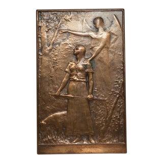 Jeanne d'Arc Liberatrice du Territoire Commemorative Bronze by Dupuis c.1900