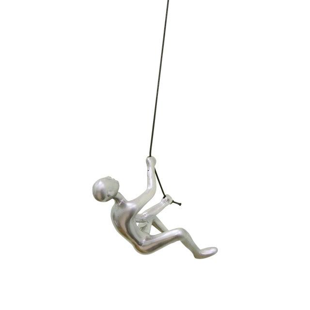 Silver Climbing Man Wall Art - Image 1 of 5